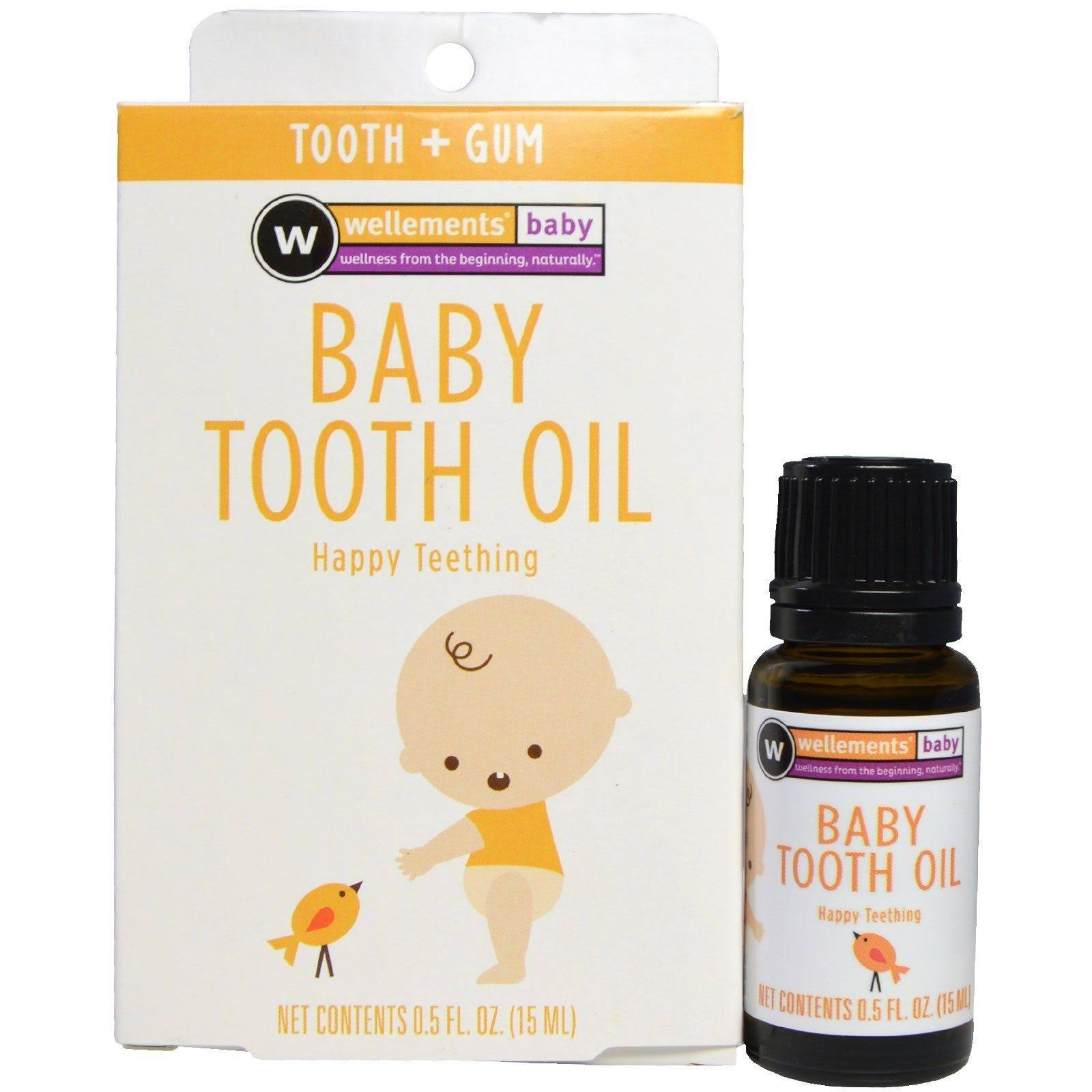 Wellements Organic Baby Tooth Oil - 0.5oz