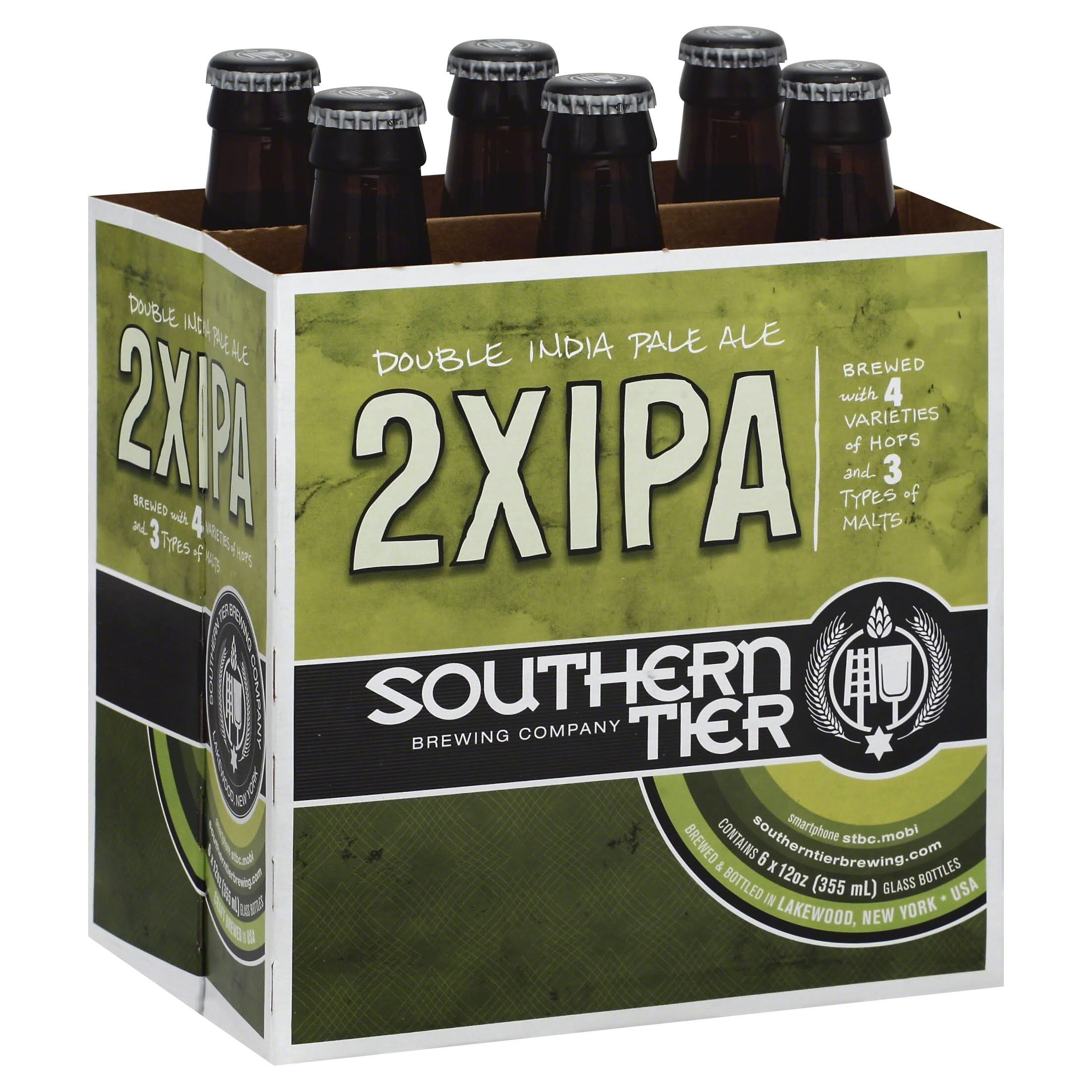 Southern Tier Ale, Double India Pale, 2XIPA - 6 pack, 12 oz bottles