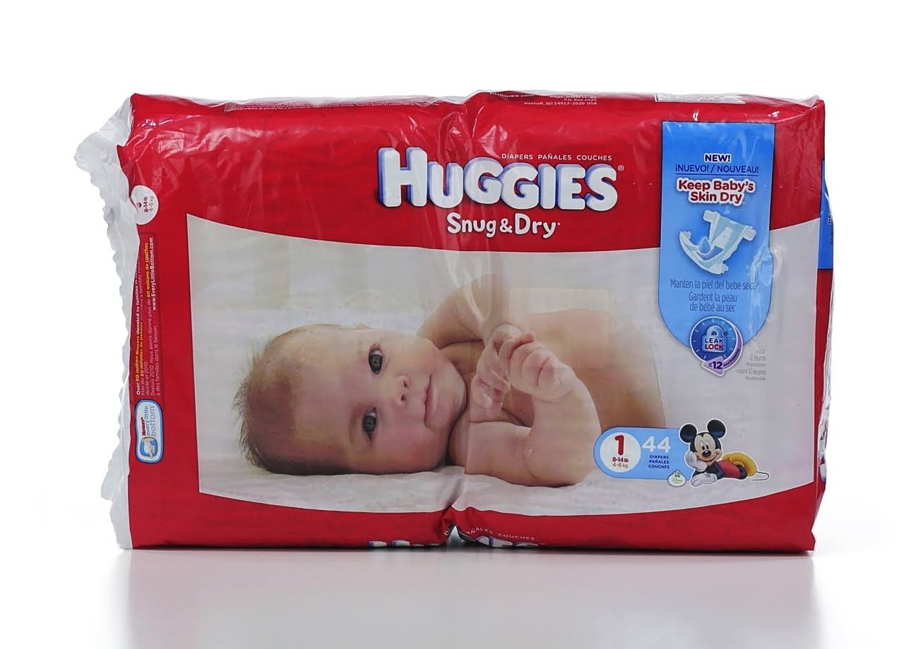 Huggies Snug and Dry Baby Diapers - 44ct