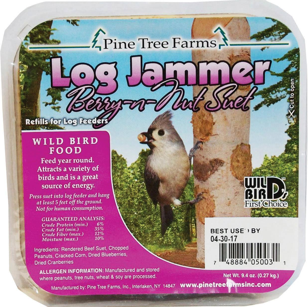 Pine Tree Farms 5003 Log Jammers Berry N Nut Suet Bird Food - 9.4oz
