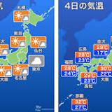 西日本, 東日本, 晴れ, 北日本, 南関東, 日本