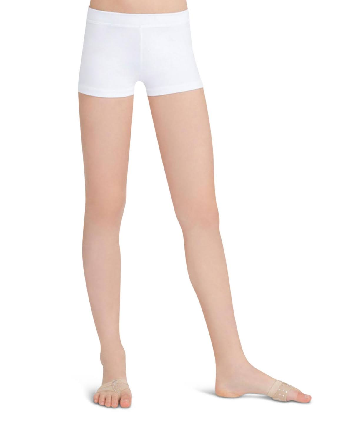 Capezio Girls Boy Cut Low Rise Short - White, Large