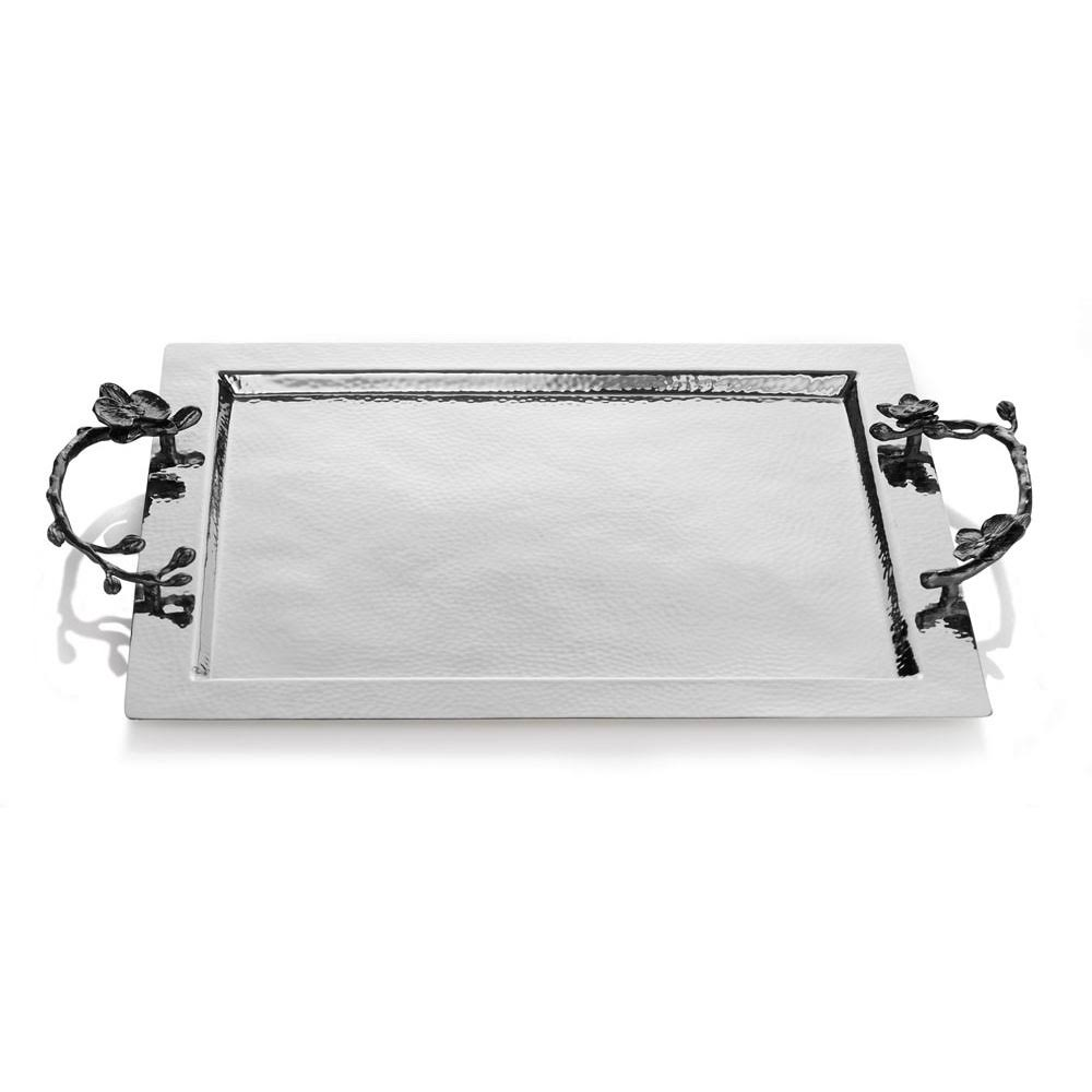 Michael Aram Black Orchid Serving Tray - Silver