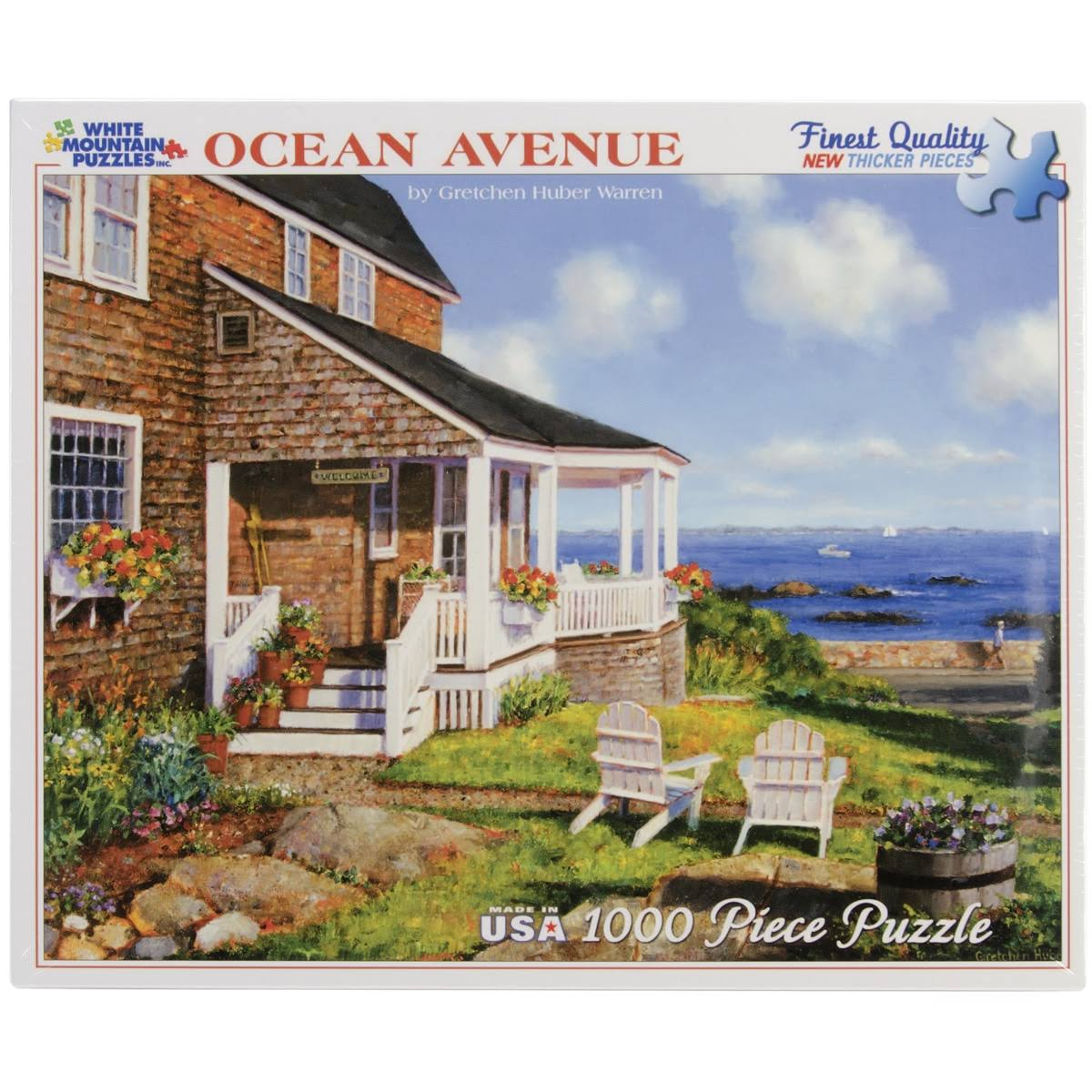 White Mountain Jigsaw Puzzle - 1000pcs, 60cm x 80cm, Ocean Avenue