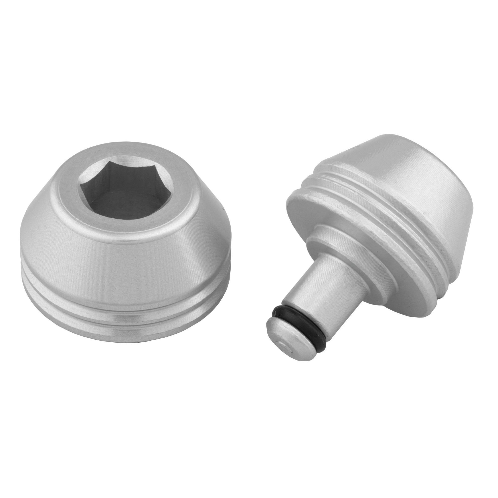 Wolf Tooth Axle Trainer Caps - Silver