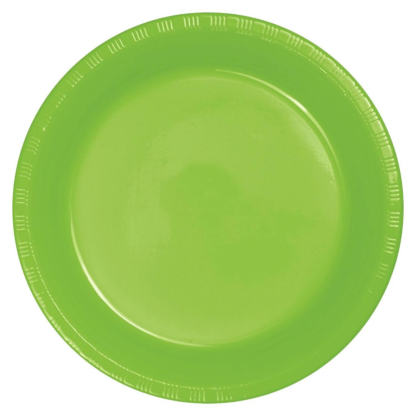 Creative Converting Touch of Color Plastic Lunch Plates - Fresh Lime, 20 Pack