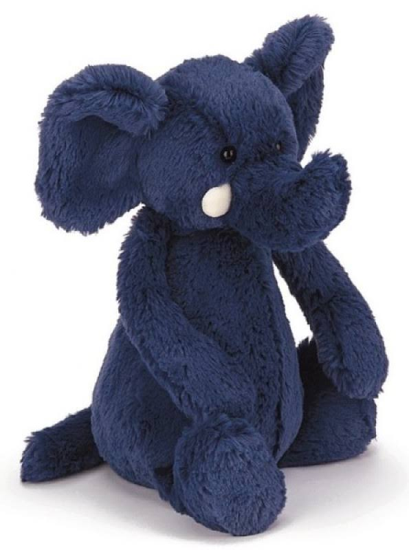 Jellycat Bashful Elephant - Blue, Medium