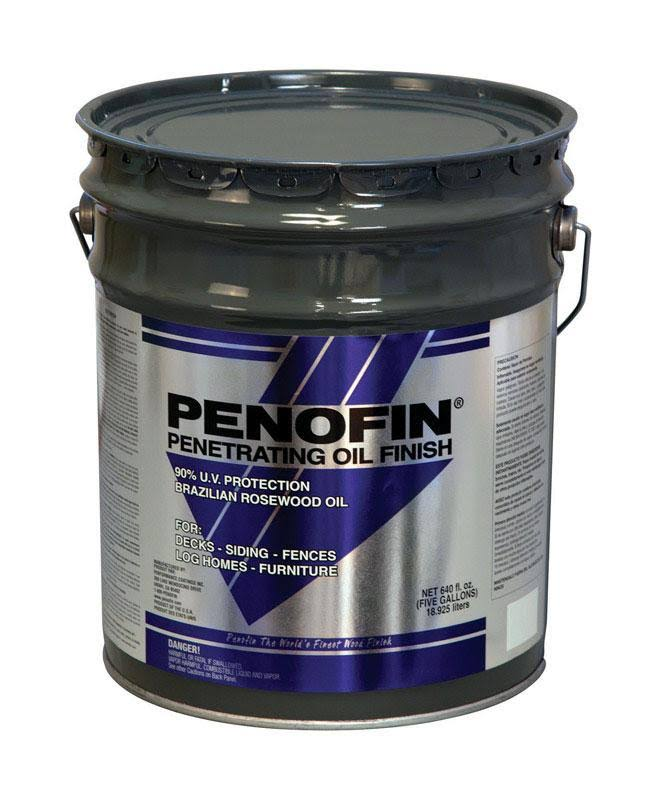 Penofin 1673946 5 Gal Blue Semi-Transparent Oil-Based Wood Stain Clear