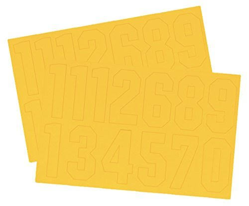 A&R Helmet Number Decals - Yellow