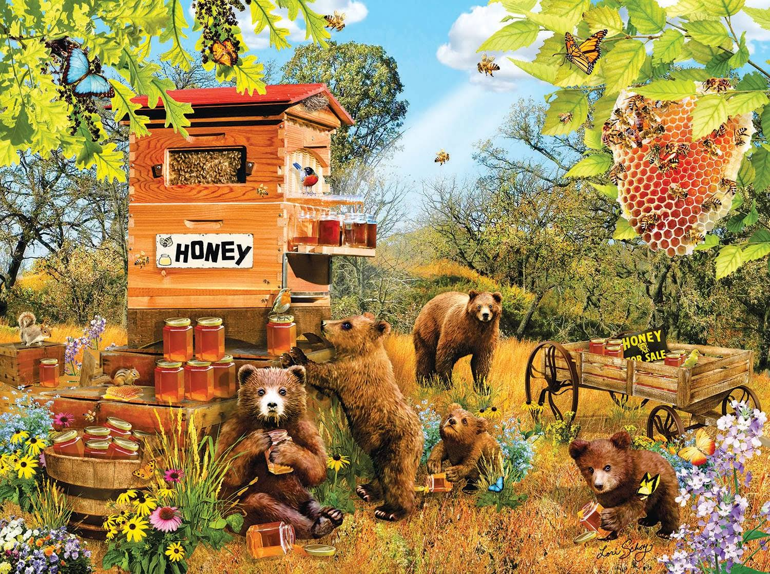 Bears and Bees - 1000pc Jigsaw Puzzle by Sunsout