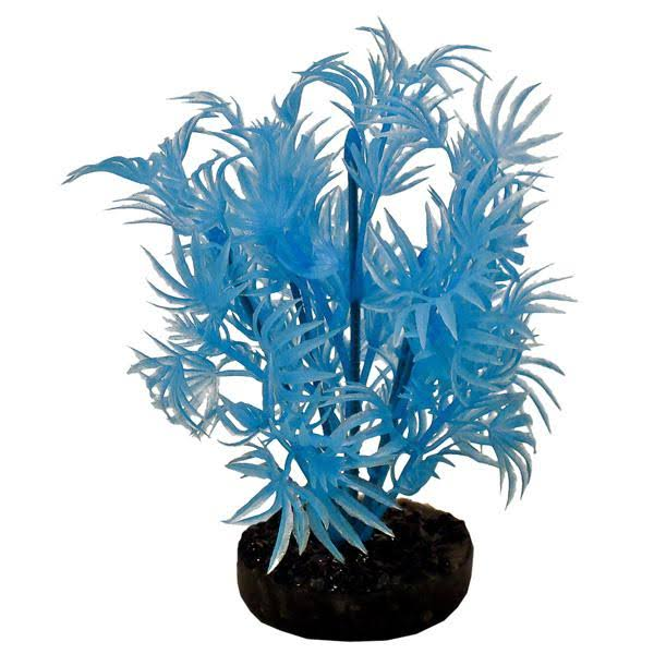 "Colorburst Florals - Dragon Leaf Plant Neon Blue - 6"" Tall"