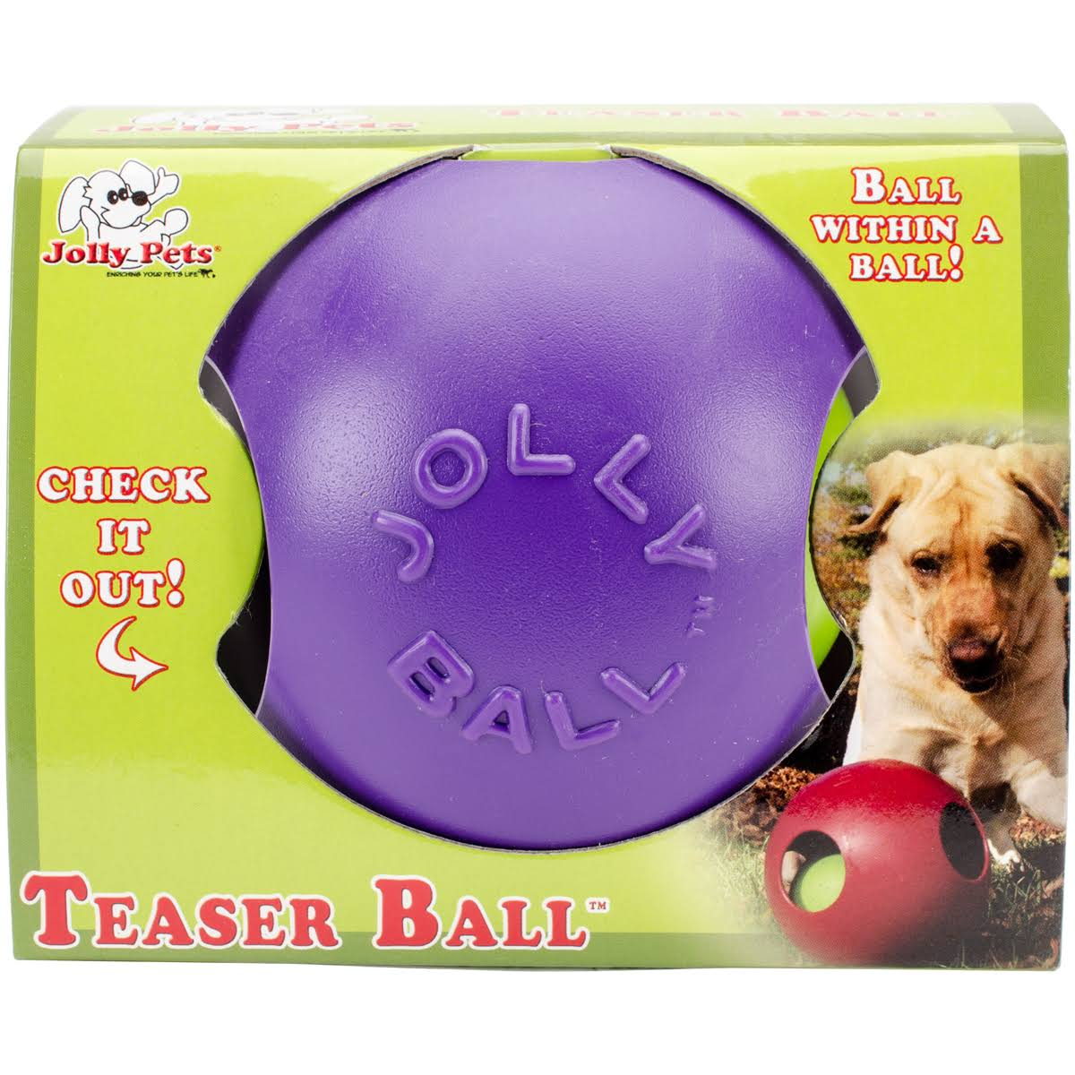 Jolly Pets PUR Purple Teaser Ball - 4.5''