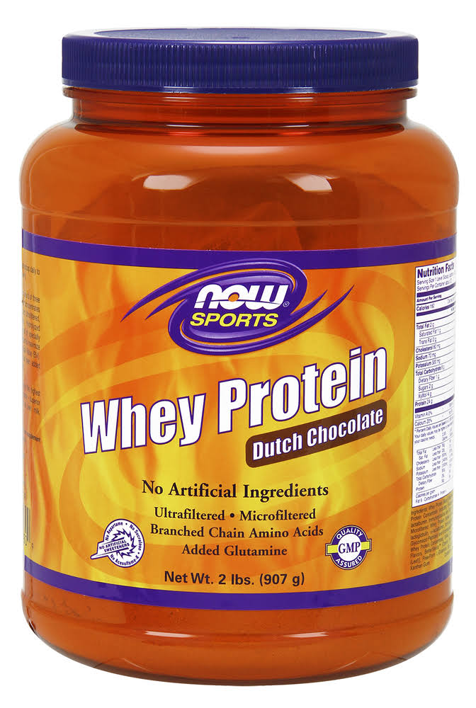 Now Foods Whey Protein Powder - Dutch Chocolate, 907g