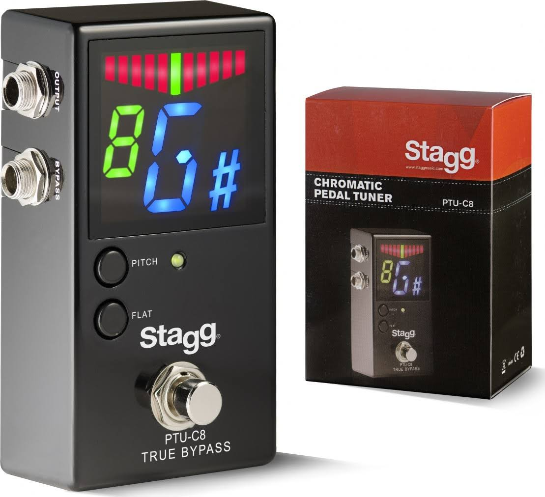 Stagg Ptu-c8 Auto Chromatic Pedal Tuner - For Guitar, Bass