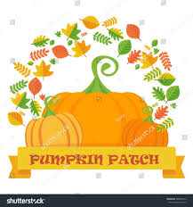 White Oak Pumpkin Patch by Vector Pumpkin Patch Leaves Frame Template Stock Vector 486866212
