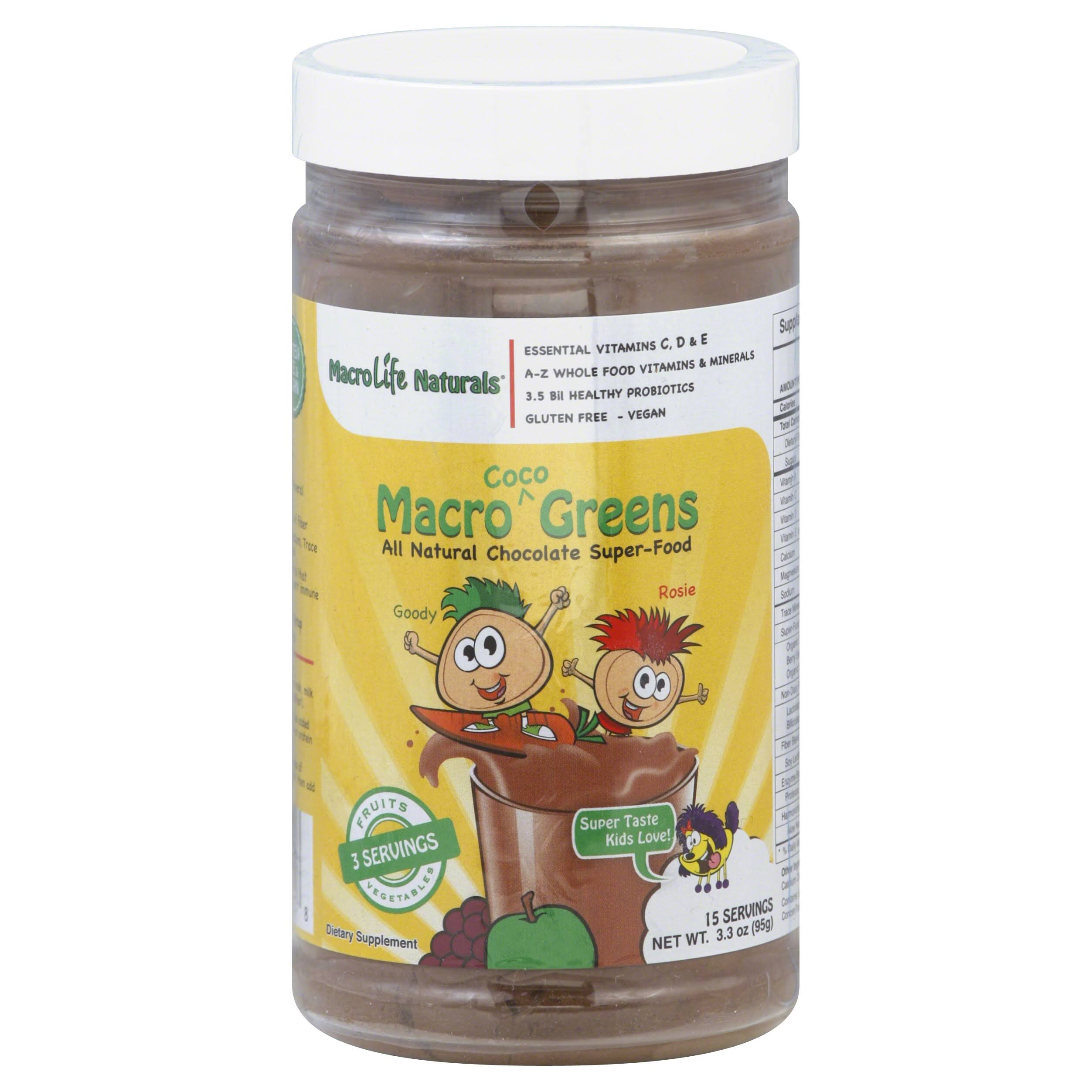 Macro Life Naturals Macro Junior Coco Greens Supplement - 3.3oz