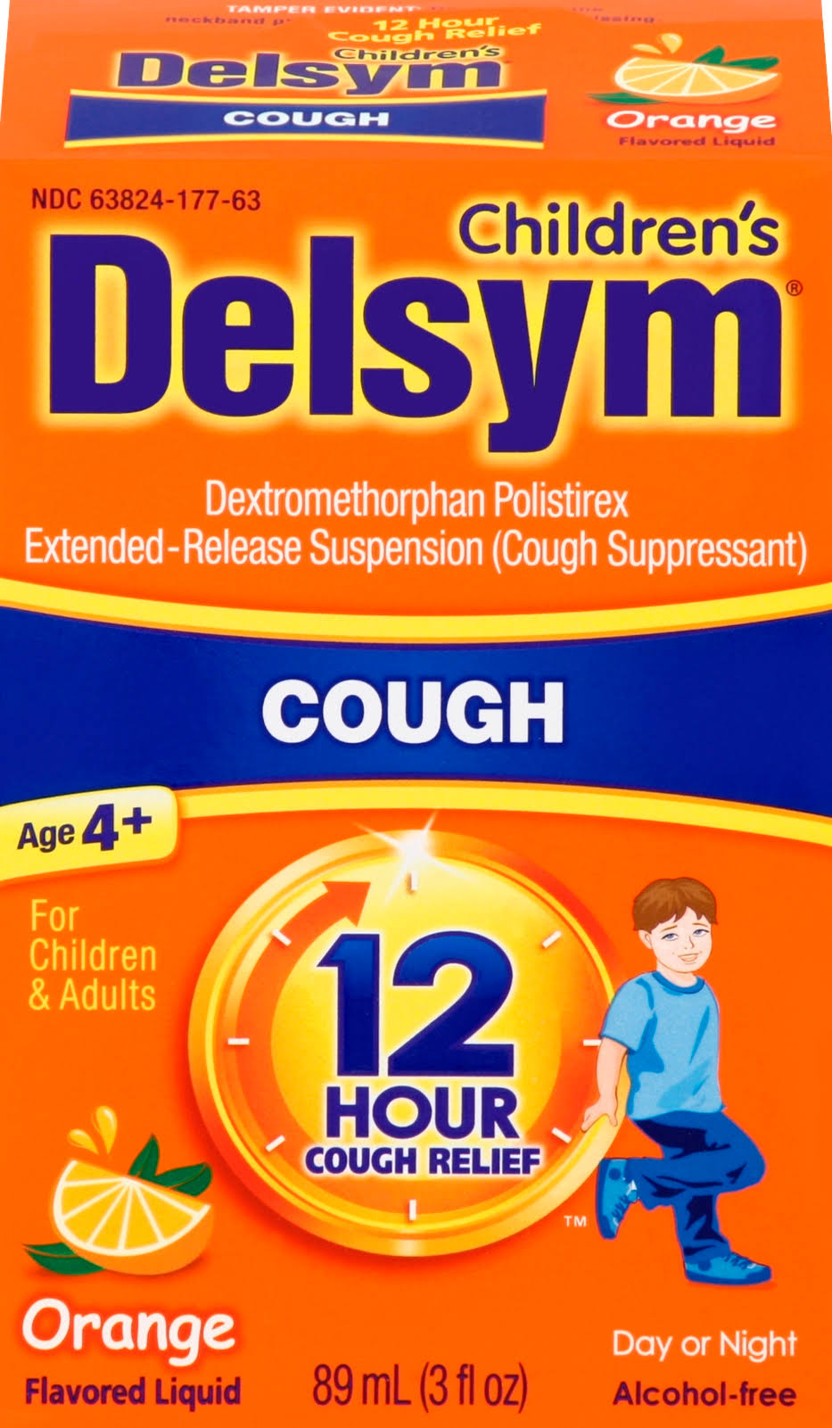 Delsym Cough Suppressant - Orange, 3oz