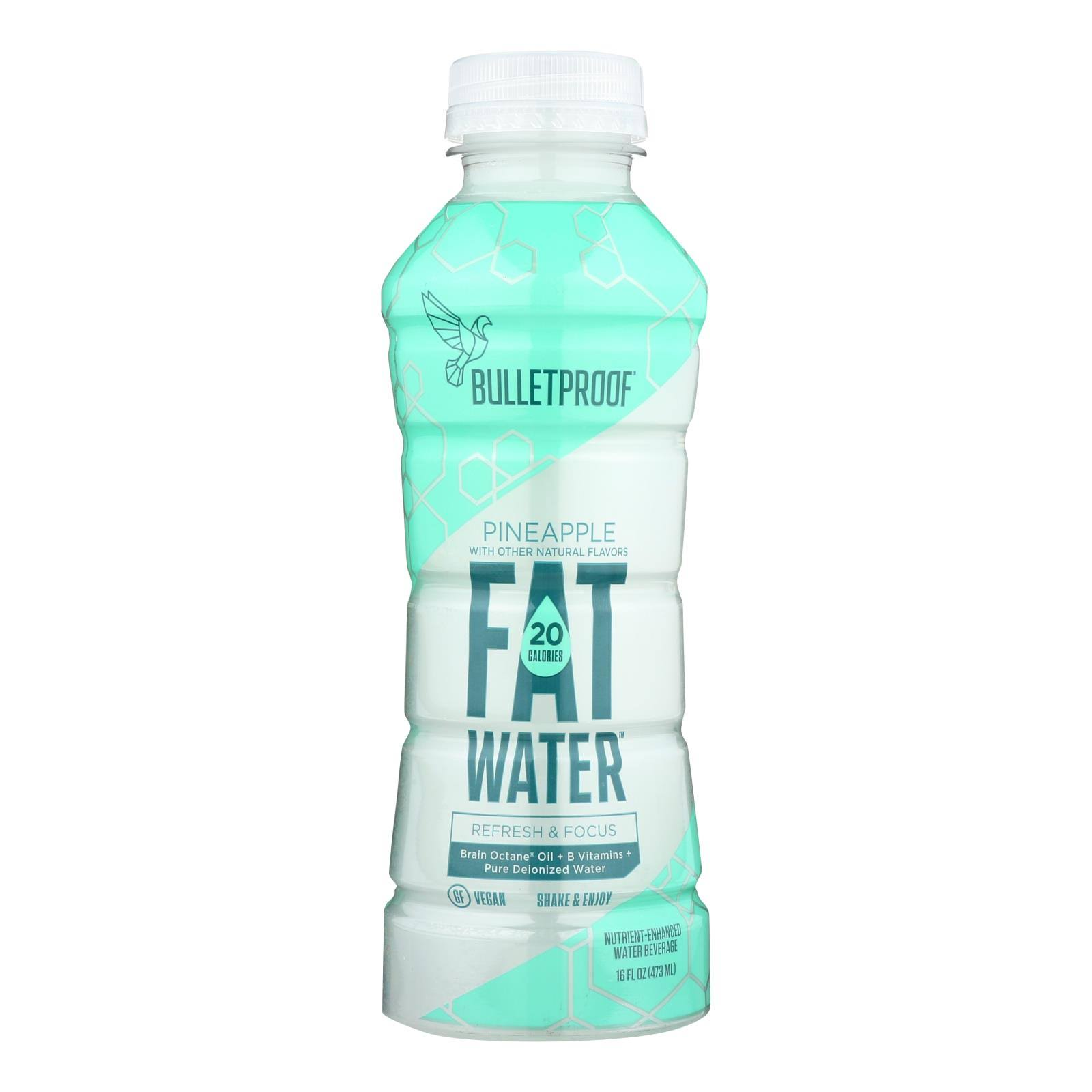 Bulletproof Fat Water, Pineapple - 16 fl oz bottle