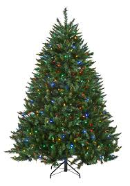 7ft Black Pencil Christmas Tree by Multi Color Led Artificial Christmas Trees
