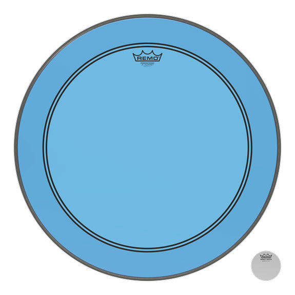 Remo Powerstroke P3 Colortone Bass Drum Head - Blue, 22""