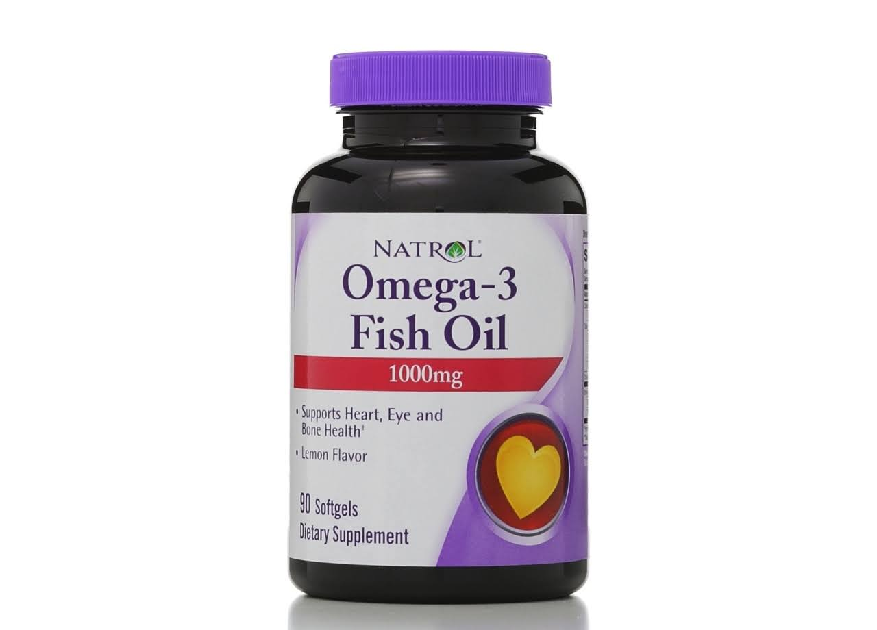 Natrol Omega-3 Fish Oil 1000mg 90 Softgels