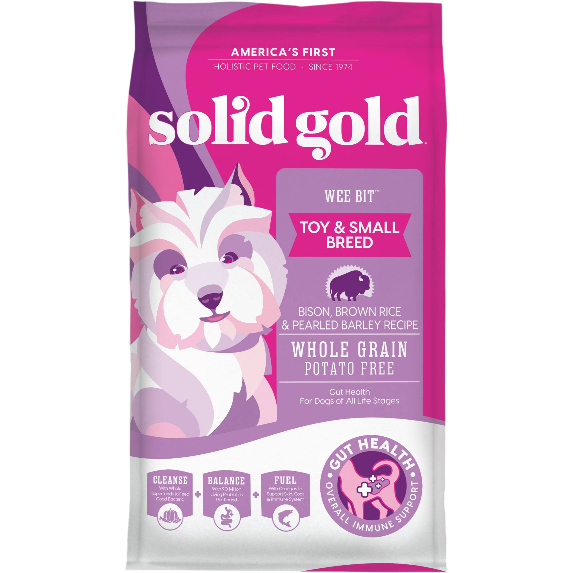 Solid Gold Wee Bit Holistic Dry Dog Food - Bison & Brown Rice