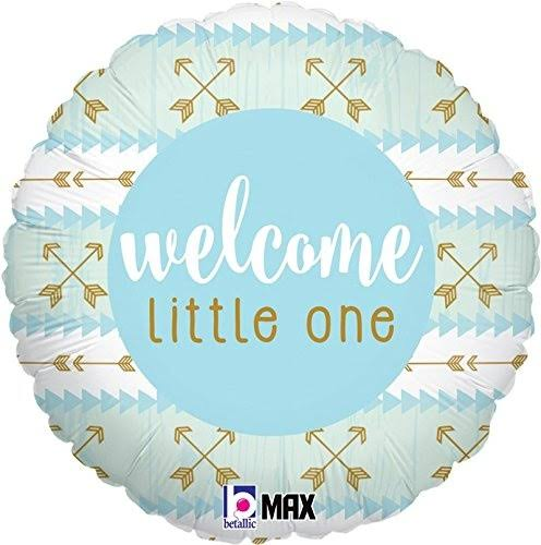 Blue Welcome Little One Mylar Balloon D2683332