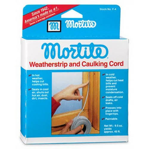 Frost King F4 Mortite Caulking Cord - Grey, 45'