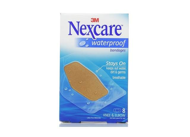3M Nexcare Waterproof Clear Bandage - for Knee and Elbow, 8ct