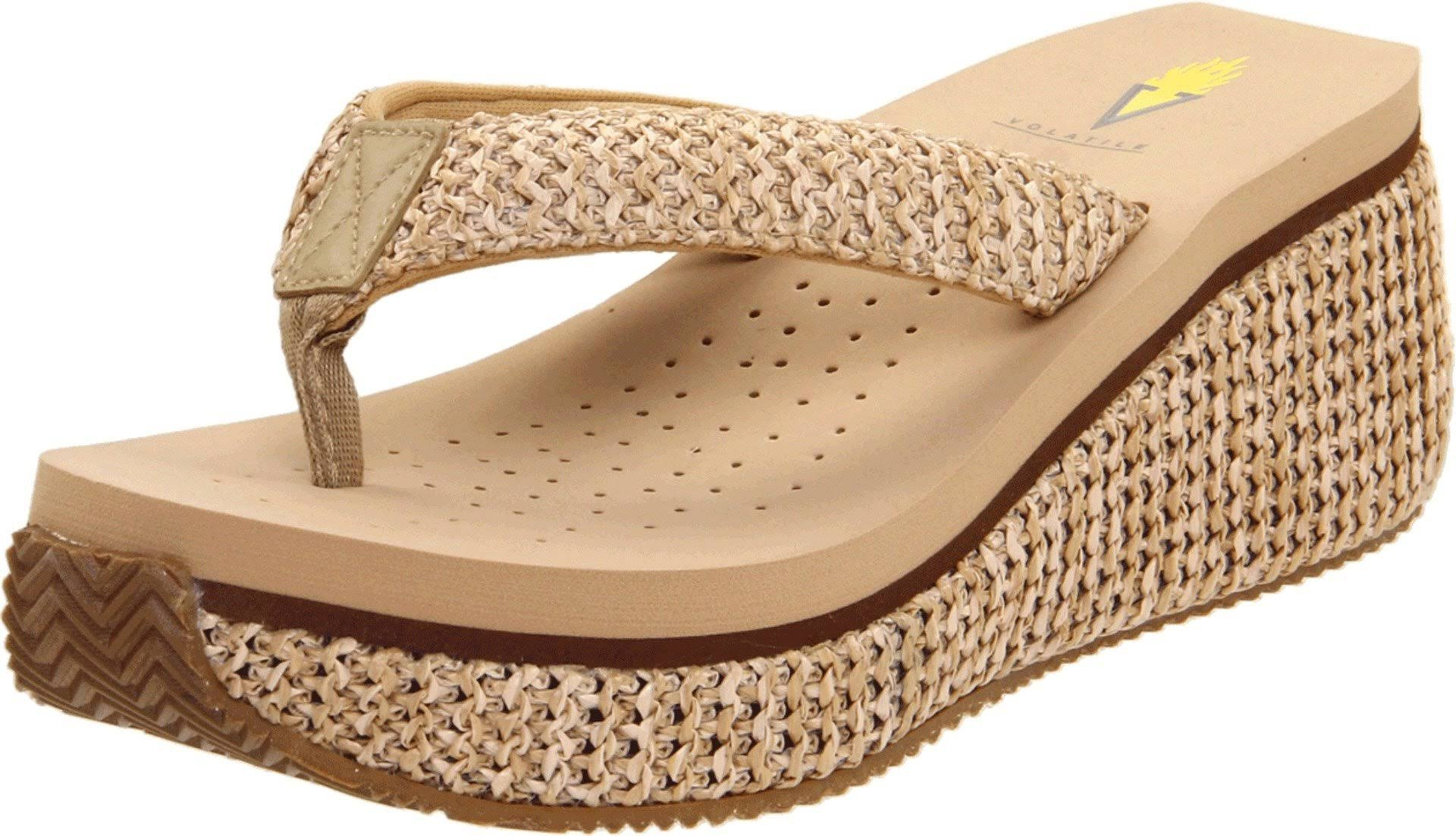 Volatile Women's Island Wedge Sandals - Natural, 8 USW