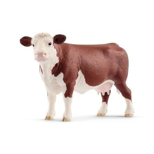 Schleich Hereford Cow Toy Figurine