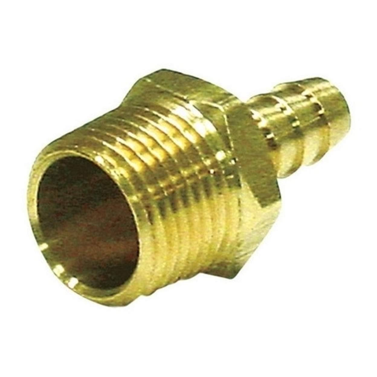 "Jmf Lead Free Hose Barb - 3/8"" x 1/8"", Yellow Brass"