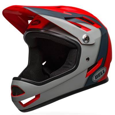 Bell Sanction Helmet Large Matte-crimson-slate-gray