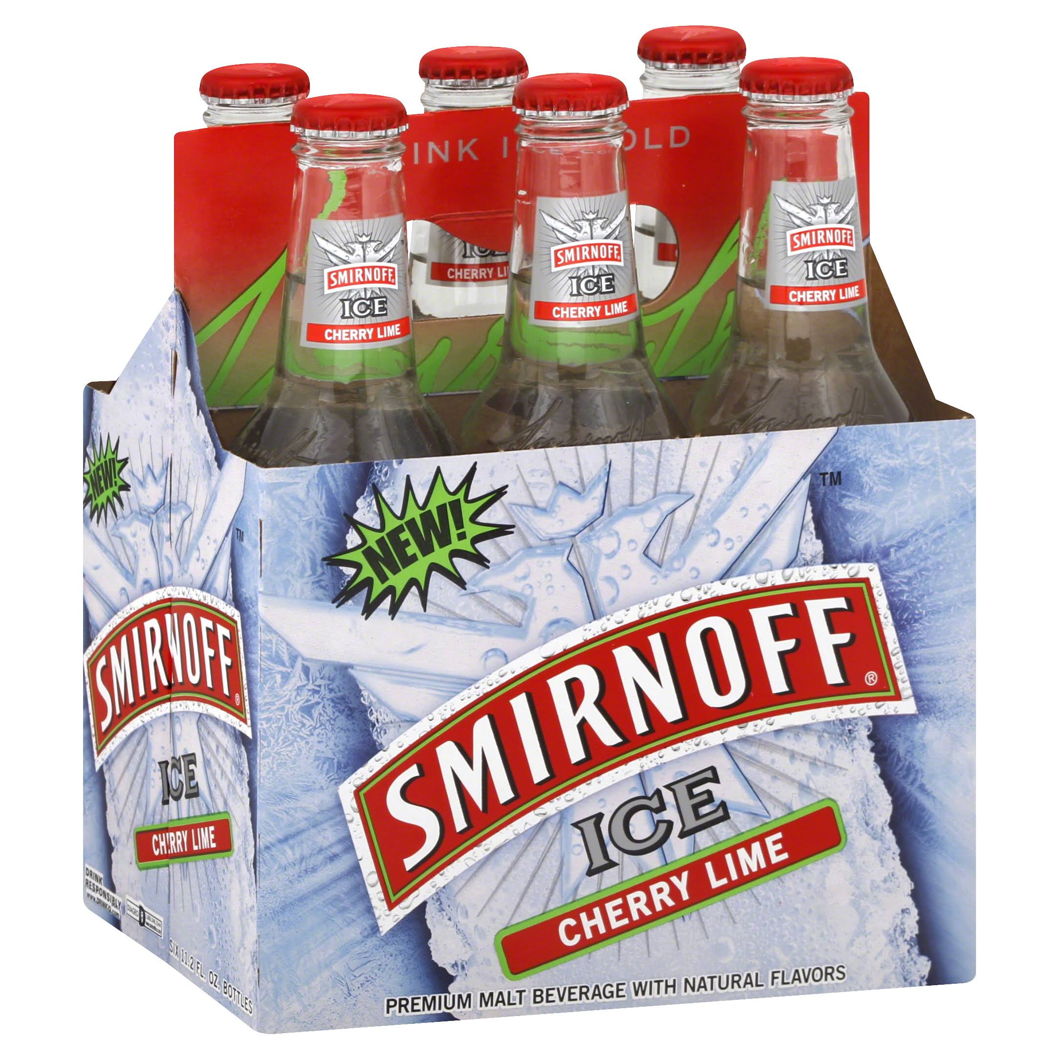 Smirnoff Premium Ice Malt Beverage - Cherry Lime, 67.20floz
