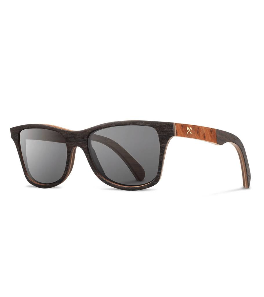 Shwood Canby Select Sunglasses Wood Eyewear - Redwood Burl/grey