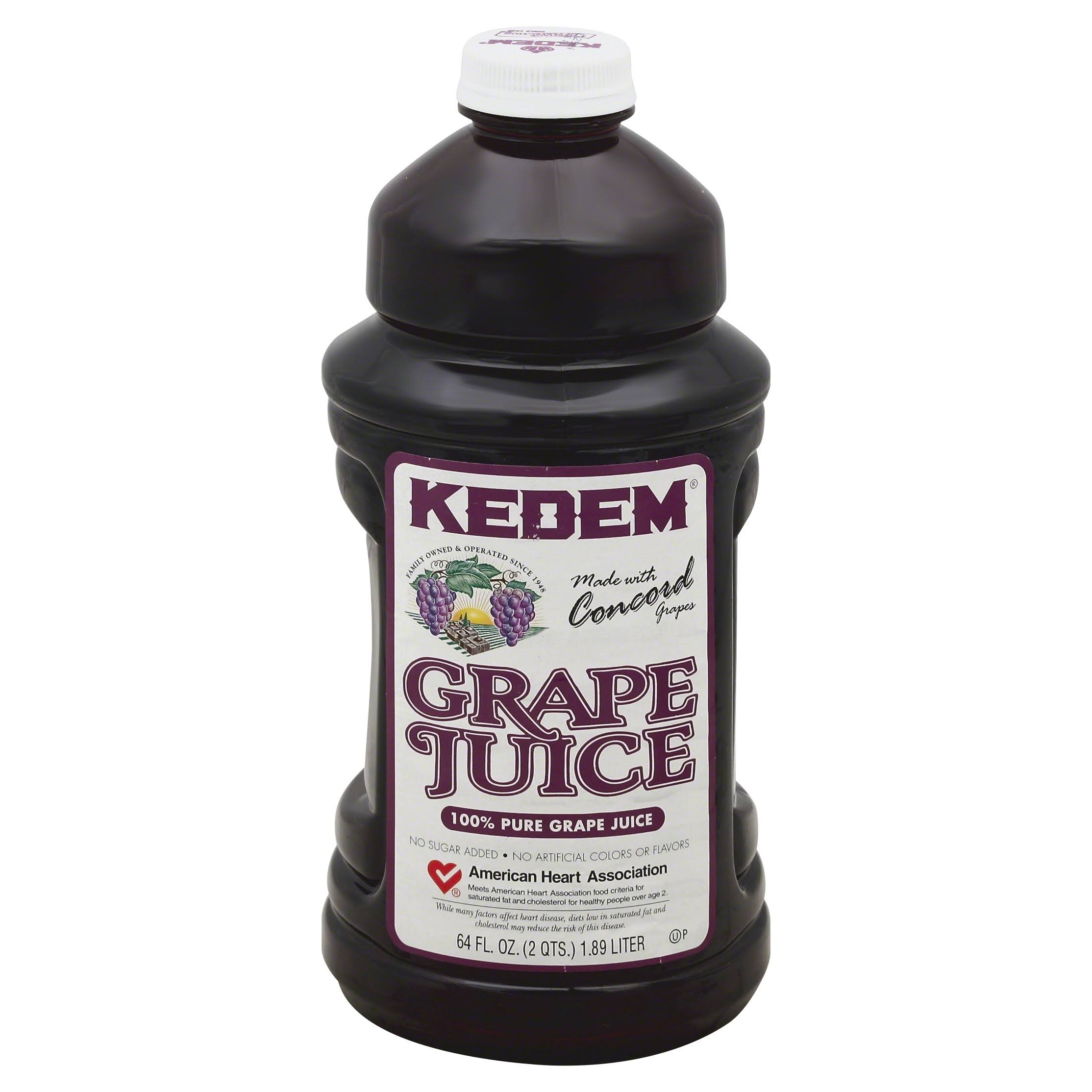 Kedem 100% Juice, Pure Grape - 64 fl oz
