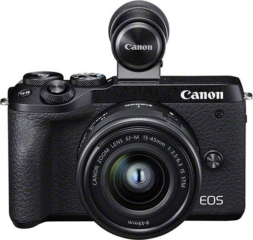 Canon EOS M6 Mark II Mirrorless Camera, 15-45mm Is STM Lens, EVF-DC2
