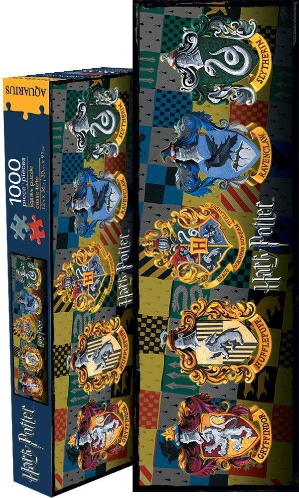 Aquarius Harry Potter Crests 1000-Piece Slim Puzzle