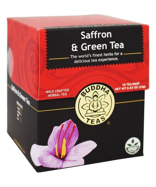 Buddha Teas Saffron and Green Tea - 18ct
