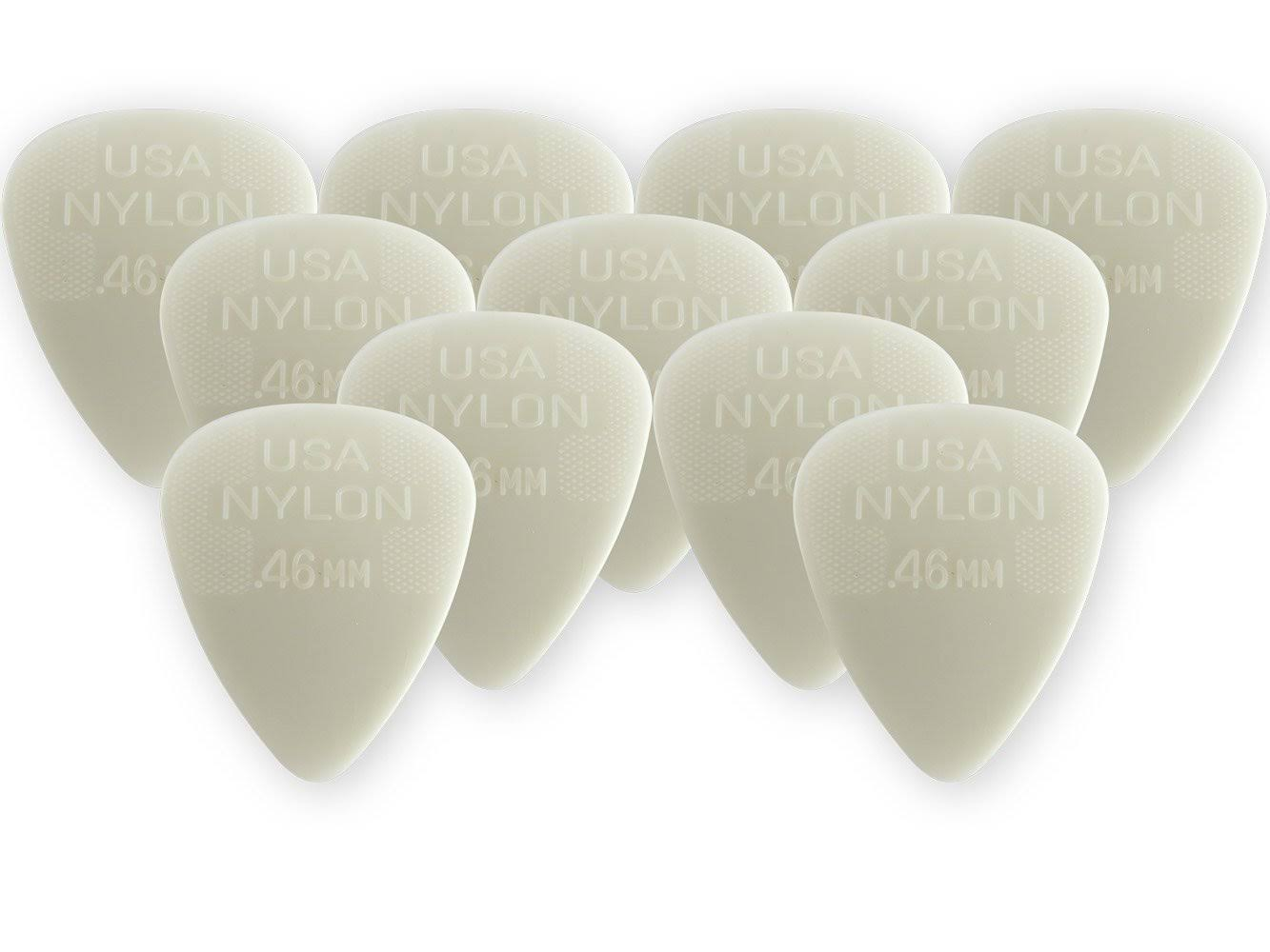 Dunlop - Nylon Standard - Guitar Picks - 12 Pack (0.46 mm)