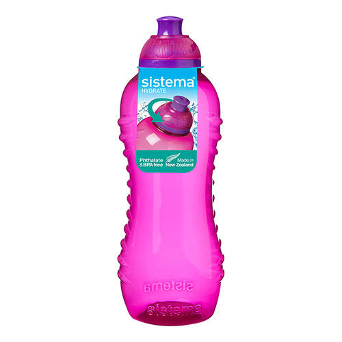 Sistema Twist N Sip Water Bottle - Pink, 460ml