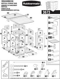 Rubbermaid Large Storage Shed Instructions by Rubbermaid Outdoor Storage 3673 User Guide Manualsonline Com