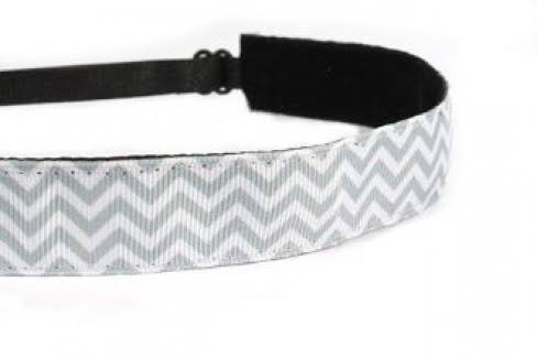 Mavi Bandz Adjustable Non-Slip Fitness Headband Chevron - Gray