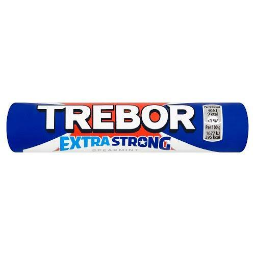 Trebor Spearmint Mints Roll - Extra Strong, 41.3g