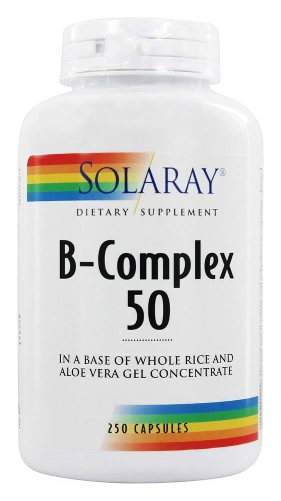 Solaray B-Complex 50 Dietary Supplement - 250 Capsules