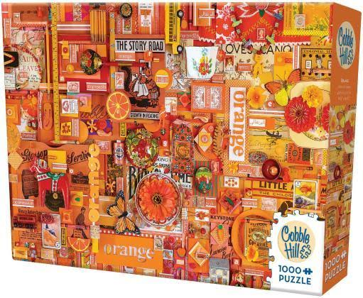 Cobble Hill Orange Jigsaw Puzzle 1000