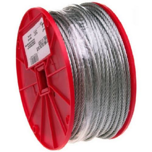 Campbell Chain 7000627 Galvanized Aircraft Cable 250', 3/16""