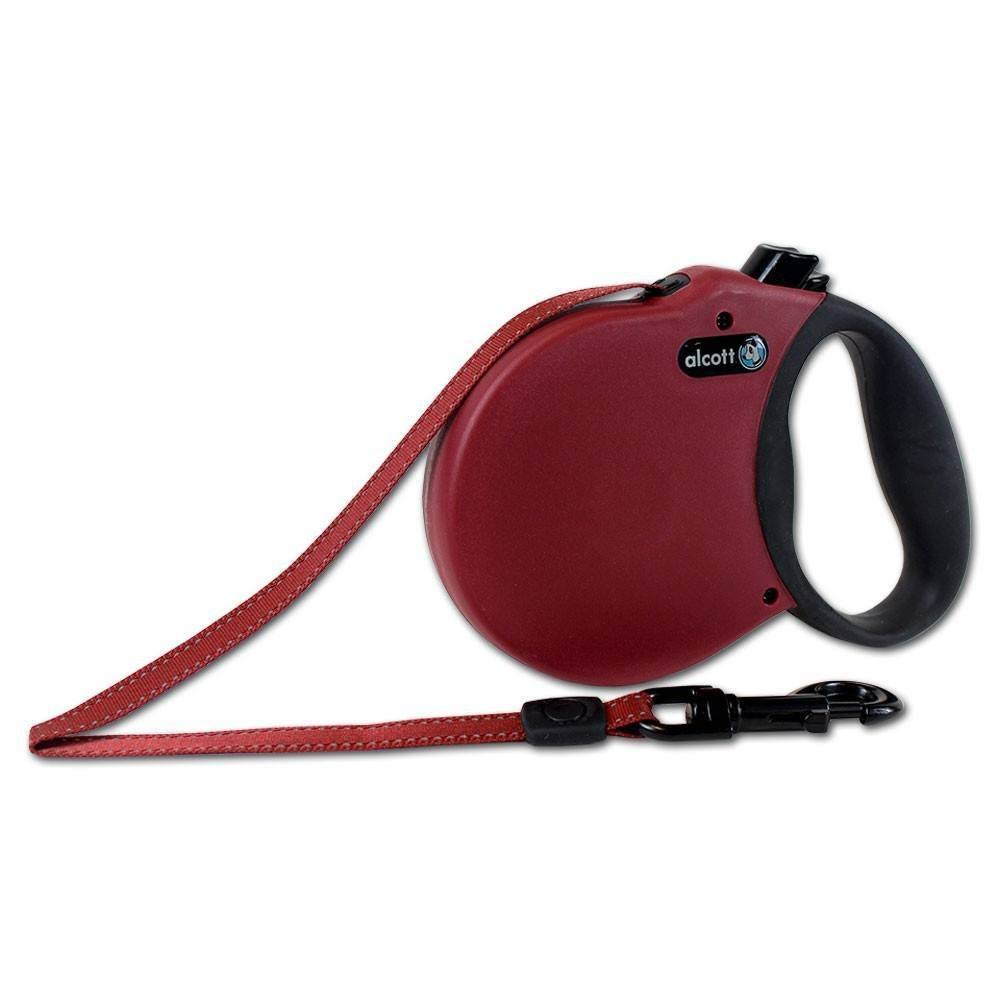 Alcott Adventure Retractable Leash - Red, X-Small, 3m