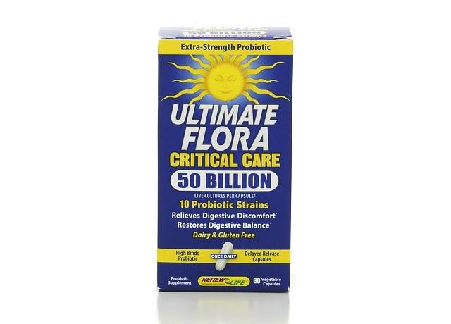 RenewLife Ultimate Flora Critical Car - 60 Vegetable Capsules