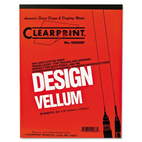 "Clearprint Design Vellum Paper - 50 sheets, 8.5"" x 11"""